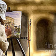 Painting The Colosseum Art Print by Stefano Senise