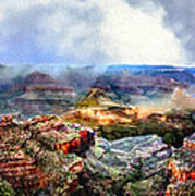Painting The Grand Canyon Art Print
