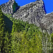 Painting Three Brothers Peaks Yosemite Np Art Print