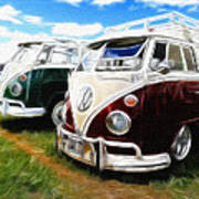 Pair Of Busses Art Print