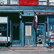 Palace Barber Shop And Lees Candy Store Art Print