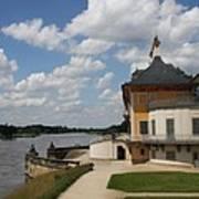 Palace Pillnitz And River Elbe Art Print