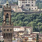 Palazzo Vecchio Tower And Forte Belvedere Art Print