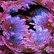 Pale Moon Flower Orb Art Print