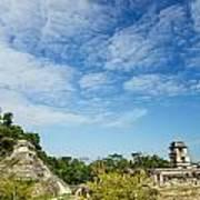 Palenque Temples Art Print