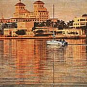 Palm Beach At Golden Hour Art Print