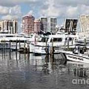 Palm Beach Docks Art Print