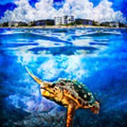 Palm Beach Under And Over Art Print