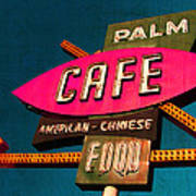 Palm Cafe Art Print by Gail Lawnicki