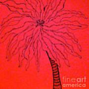 Palm Red Art Print