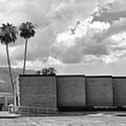 Palm Springs City Hall Bw Palm Springs Art Print