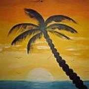Palm Tree Art Print by Haleema Nuredeen