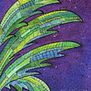 Palms Against The Night Sky Art Print
