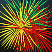 Palms Bursting Print by Roseann Gilmore