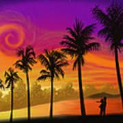 Palms Over St. Croix Art Print