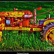 Palouse Tractor Art Print