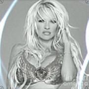 Pamela Anderson - Angel Rays Of Light Art Print