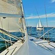 Pamlico Sound Sailing 52 4/14 Art Print