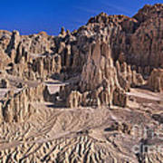 Panaca Formations In Cathedral Gorge State Park Nevada Art Print