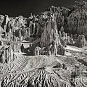 Panaca Sandstone Formations In Black And White Nevada Landscape Art Print