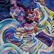 Panama Carnival. Folk Dancers Art Print