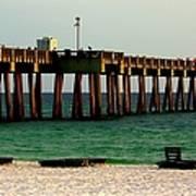 Panama City Beach Pier 2  Art Print