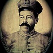 Pancho Villa In Military Uniform Drawing No  Date-2013  Art Print