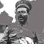 Pancho Villa  Portrait In Military Uniform No Location Or Date-2013 Art Print
