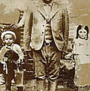 Pancho Villa  Portrait With Children No Location Or Date-2013 Art Print