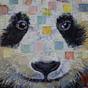 Panda Checkers Art Print