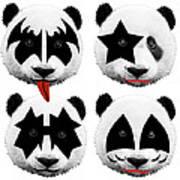 Panda Kiss  Art Print