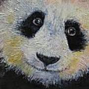 Panda Smile Art Print by Michael Creese