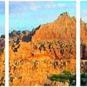 Panels Of A Canyon Art Print