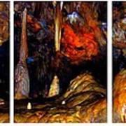 Panels Of A Cave Art Print
