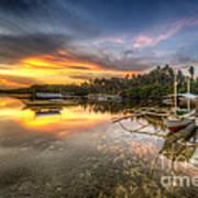 Panglao Port Sunset Art Print