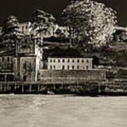 Panorama Alcatraz Up Close Art Print