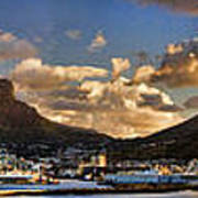 Panorama Cape Town Harbour At Sunset Art Print