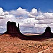Panorama - Monument Valley Park Art Print