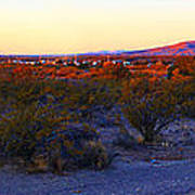 Panorama Morning View Of Mountains Art Print