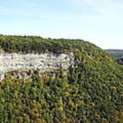 Panorama Of Cliff At Letchworth State Park Art Print