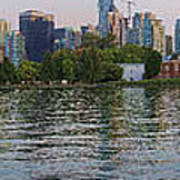Panorama Of Coal Harbour And Vancouver Skyline At Dusk Art Print