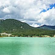 Panorama Of Green Lake, Whistler Art Print