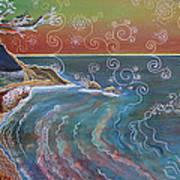 Panorama Of Pch At Big Sur Art Print