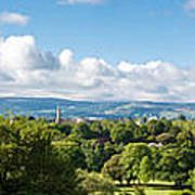 Panorama Of Phoenix Park And Wicklow Mountains Art Print