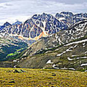 Panorama Of Rocky Mountains In Jasper National Park Art Print