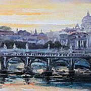 Panorama Of Rome Art Print