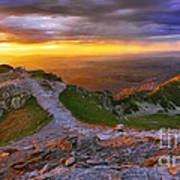 Panorama Of The Tatras In Poland Art Print