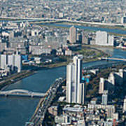 Panorama Of Tokyo Art Print