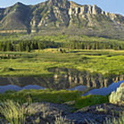 Panorama Of Windy Mountain Wyoming Art Print