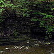 Panorama Of Wolf Creek At Letchworth State Park Art Print